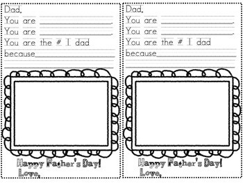 Father's Day Activity Ready to Print and Use Templates for K-2