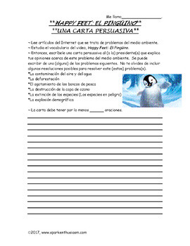 Happy Feet Movie Guide in Spanish