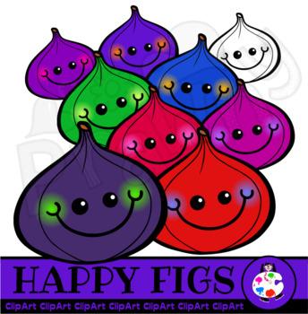 Happy Figs - Doodle Clip Art