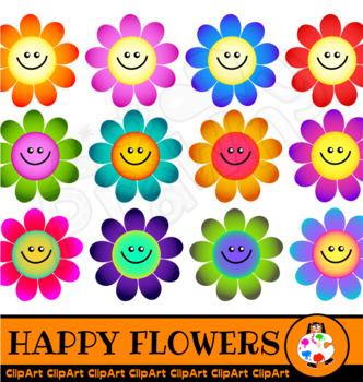 Happy Flower Clip Art