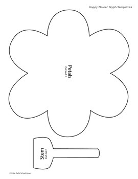 Happy Flower Math Activity - Glyph Craft with Worksheets