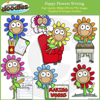 Happy Flowers Writing