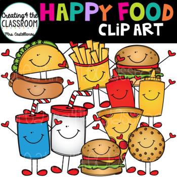 Happy Food Clip Art {Food Clip art}