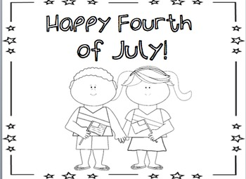 Happy Fourth of July Mini Book and Coloring Pages