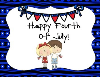 Happy Fourth of July Signs and Bookmarks
