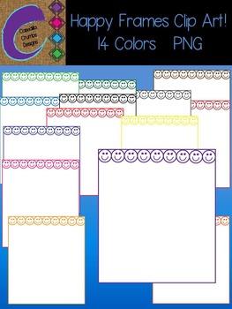 Happy Frames Freebie Free Clip Art  Color Images