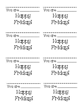 Happy Friday compliment cards
