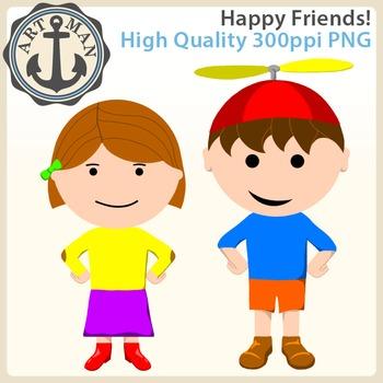 Happy Friends Clipart {Anchor Art Man}