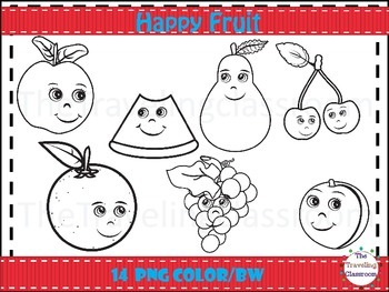 Happy Fruit Clip Art
