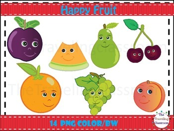 Happy Fruit Clip Art