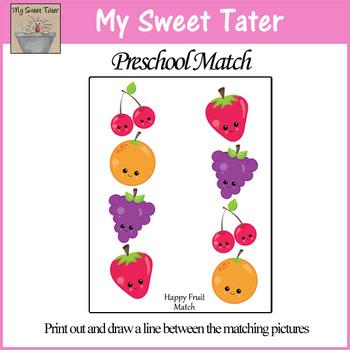 Happy Fruit Match Sheet