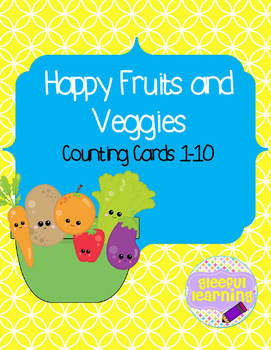 Happy Fruits and Veggies Counting 1-10