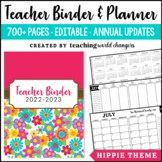 Hippie Teacher Binder