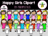 Happy Girls Clipart {Created By: Pineapple Bliss}