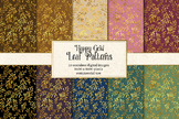 Happy Gold Leaf Patterns, seamless backgrounds