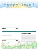 Happy Gram -- Editable