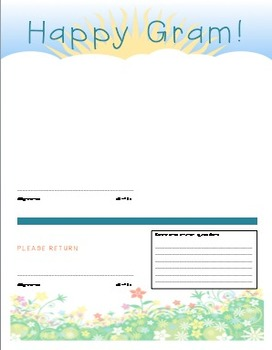 Happy Gram -- Editable