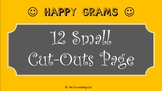 Happy Gram - 12 Small Cut-Outs