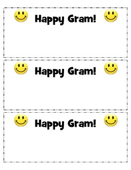 Happy Gram (note from parents)