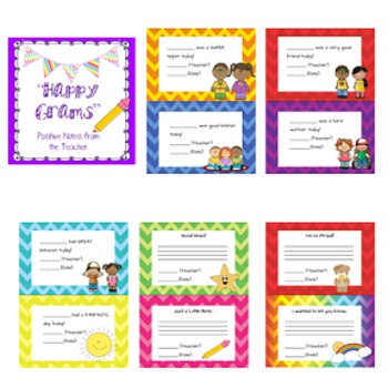 """Happy Grams"" Positive Notes to Parents"