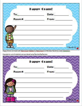 Happy Grams!  Positive and Encouraging Notes