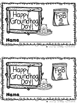 Happy Groundhog Day (A Sight Word Reader Teacher Lap Book, Directed Drawing)