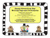 Happy Groundhog Day Writing Page and Bookmarks
