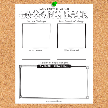 Happy Habit Challenge: Looking Back Printable