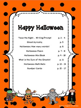 Happy Halloween: Activity Packet for Primary Grades (ELA and Math)