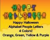 Happy Halloween! - Alphabet People Bulletin Board Letters