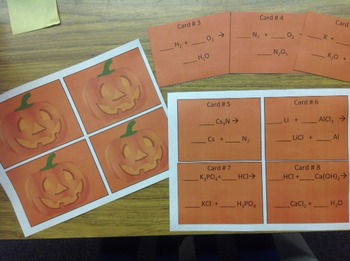 Happy Halloween Balancing Equations for Chemistry