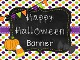 Happy Halloween! Banner