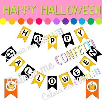 Happy Halloween Banner - Colour me Confetti