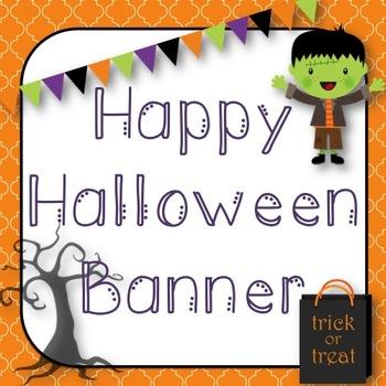 Happy Halloween Banner *Pennant*