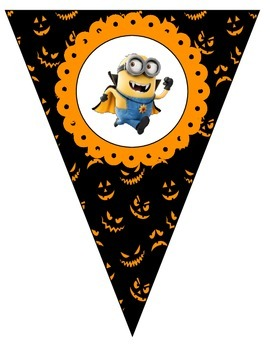 Happy Halloween Banner - With Minions