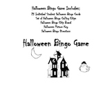 Happy Halloween Bingo Game in Black and White