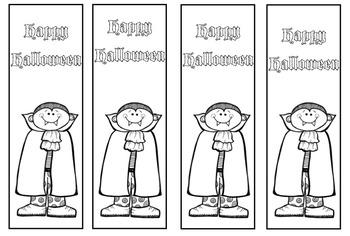 Happy Halloween Bookmarks