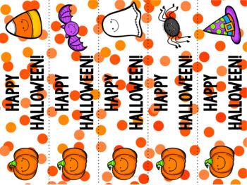 Happy Halloween! Bookmarks