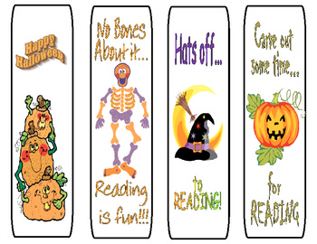 Happy Halloween Bookmarks FREEBIE