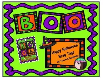 Happy Halloween Brag Tag Freebie