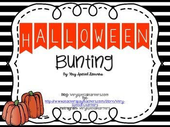 Happy Halloween Bunting- FREEBIE!