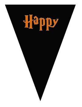 FREEBIE Happy Halloween Buntings - Orange/Black