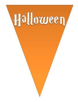 FREEBIE Happy Halloween Buntings - Orange/Black (white letters)