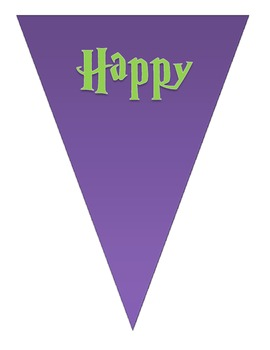 FREEBIE Happy Halloween Buntings - Purple/Green