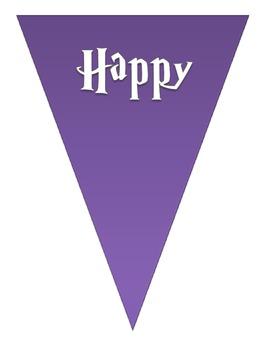 FREEBIE Happy Halloween Buntings - Purple/Green (white letters)