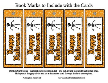 Happy Halloween Card and Bookmark - Skeleton Riddle - Great Treat - Easy to Make