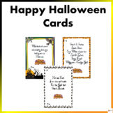 Happy Halloween Cards: Notes from the Teacher