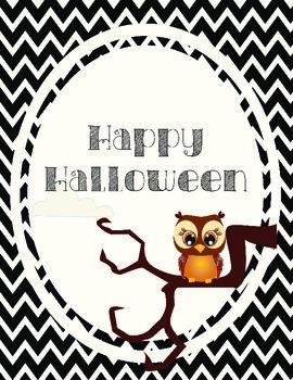 Happy Halloween Chevron Poster