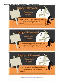 Happy Halloween Class Coupon