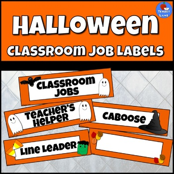 Halloween Classroom Job Labels